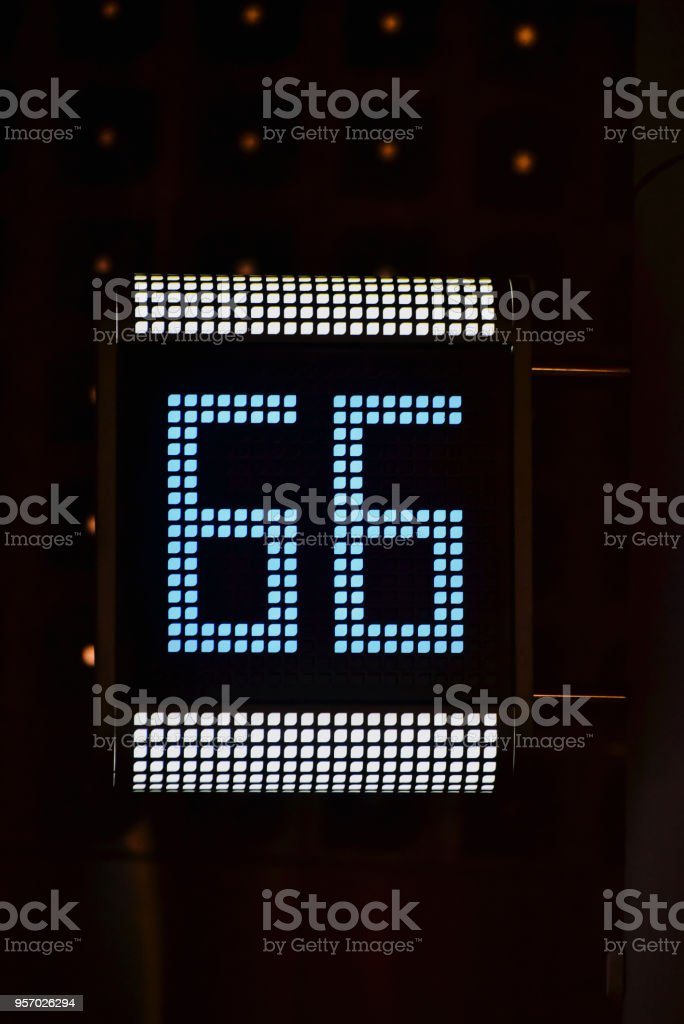 Digital number board isolated unique photo stock photo