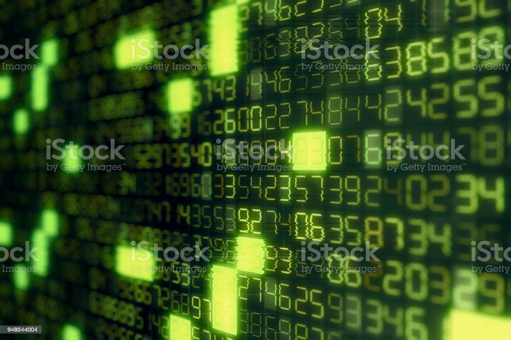 Digital Numbers Display stock photo