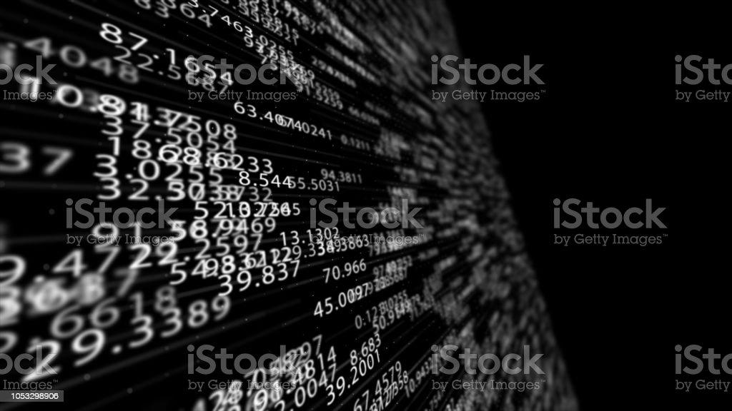 Números digitais - foto de acervo