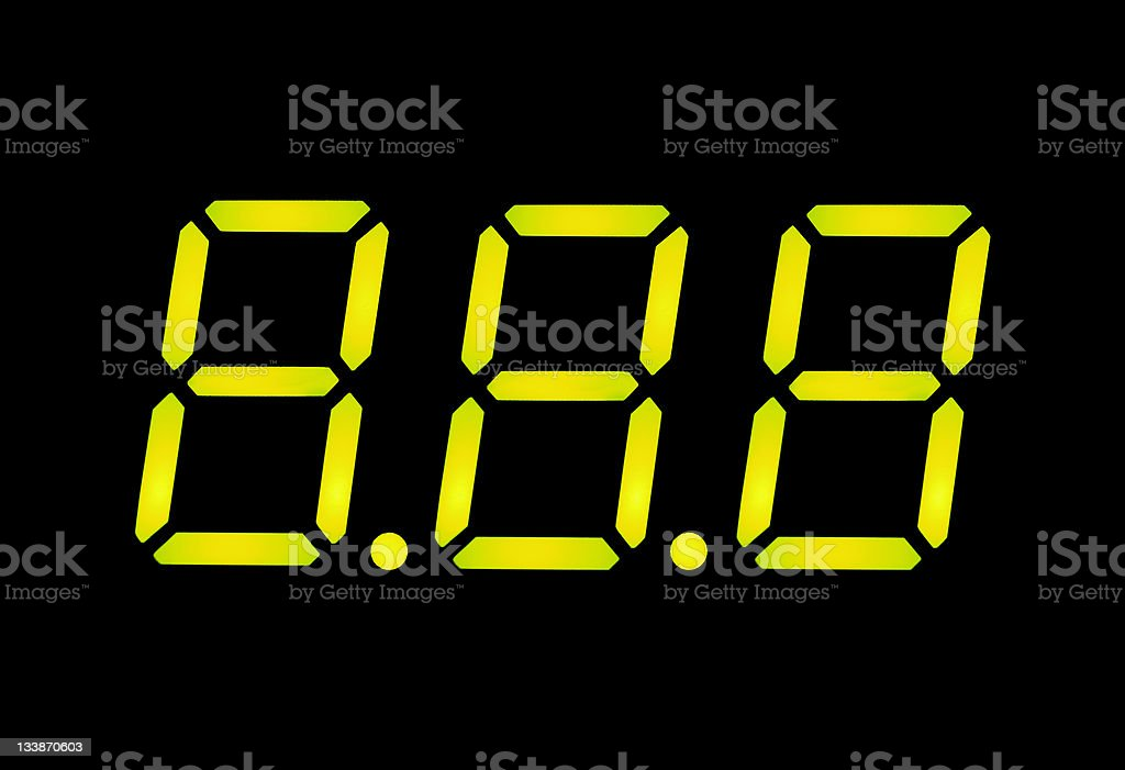 LCD digital numbers royalty-free stock photo
