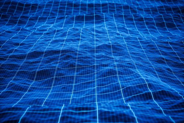 Hintergrund der digitalen Ozeantechnologie – Foto