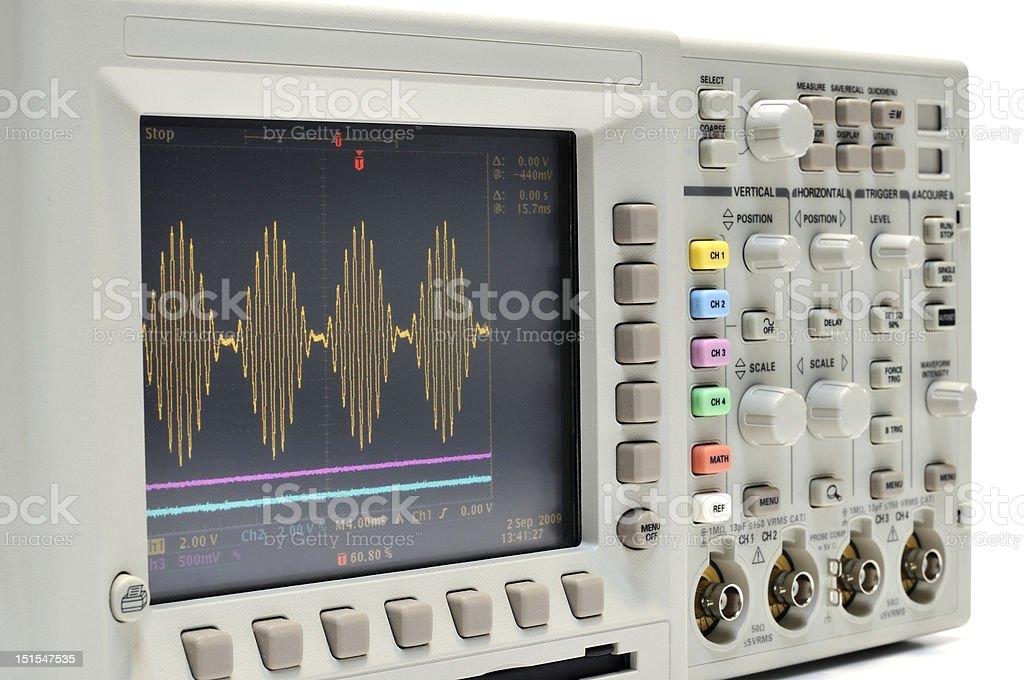Digital oscilloscope royalty-free stock photo