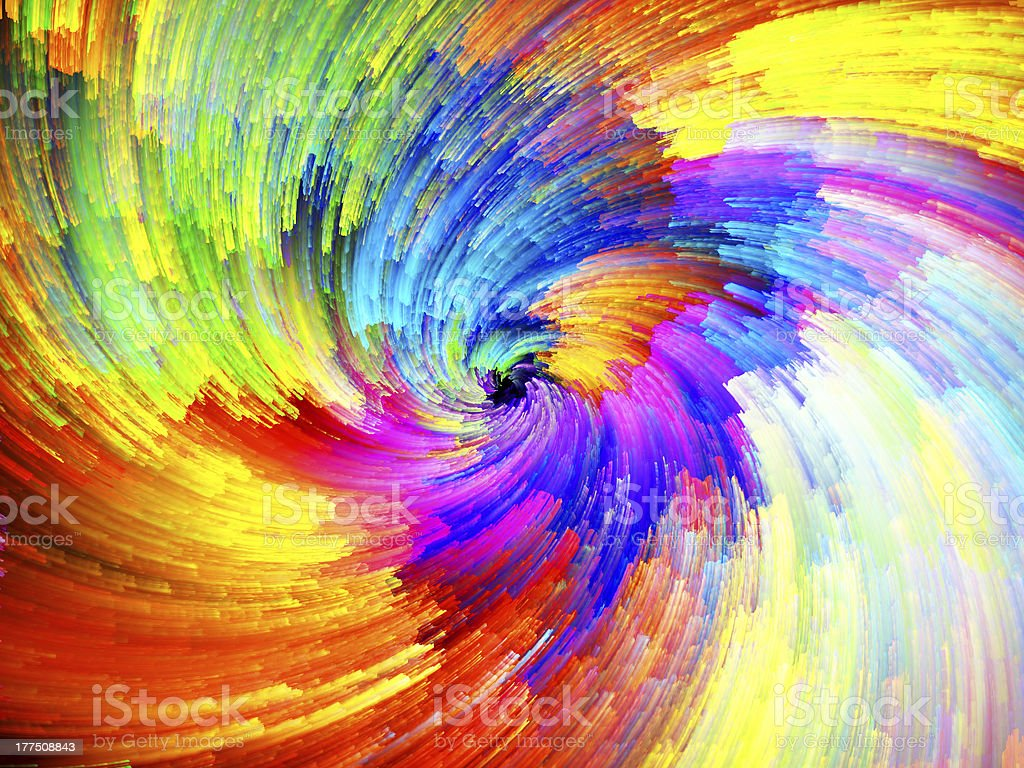 Digital Paint Vortex stock photo