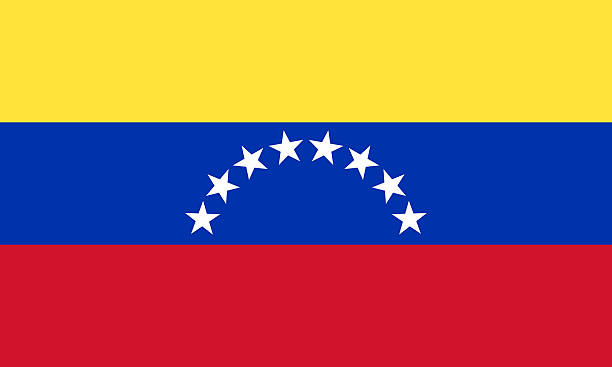 digital painting of venezuelan flag - venezuelan flag stock photos and pictures