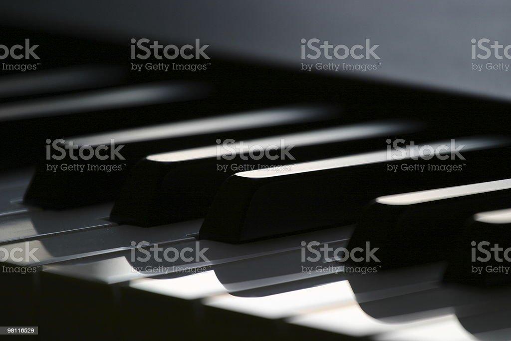 Digital Piano Close Up royalty-free stock photo