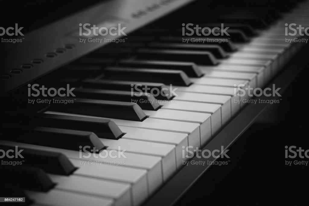 Digital Piano keyboard at night royalty-free stock photo