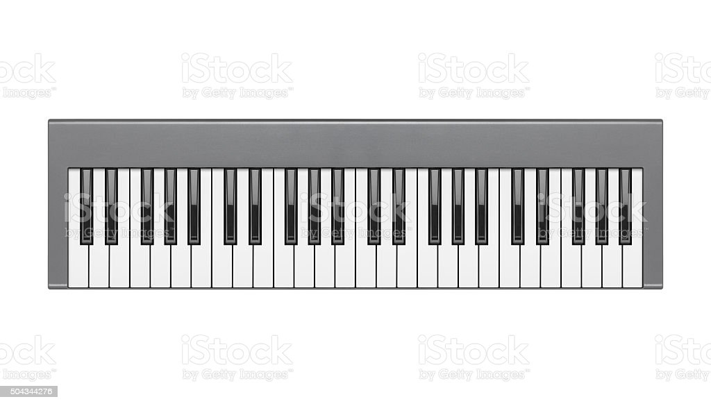 digital piano or synthesizer isolated on white background stock photo