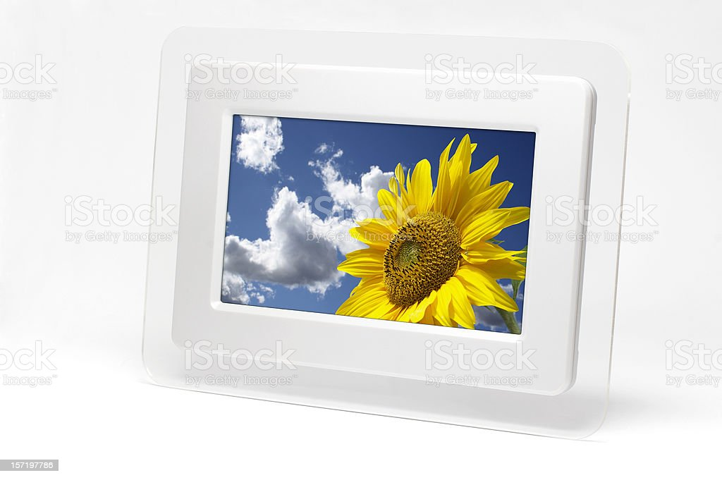 Digital Picture Frame (clipping path), isolated on white background royalty-free stock photo