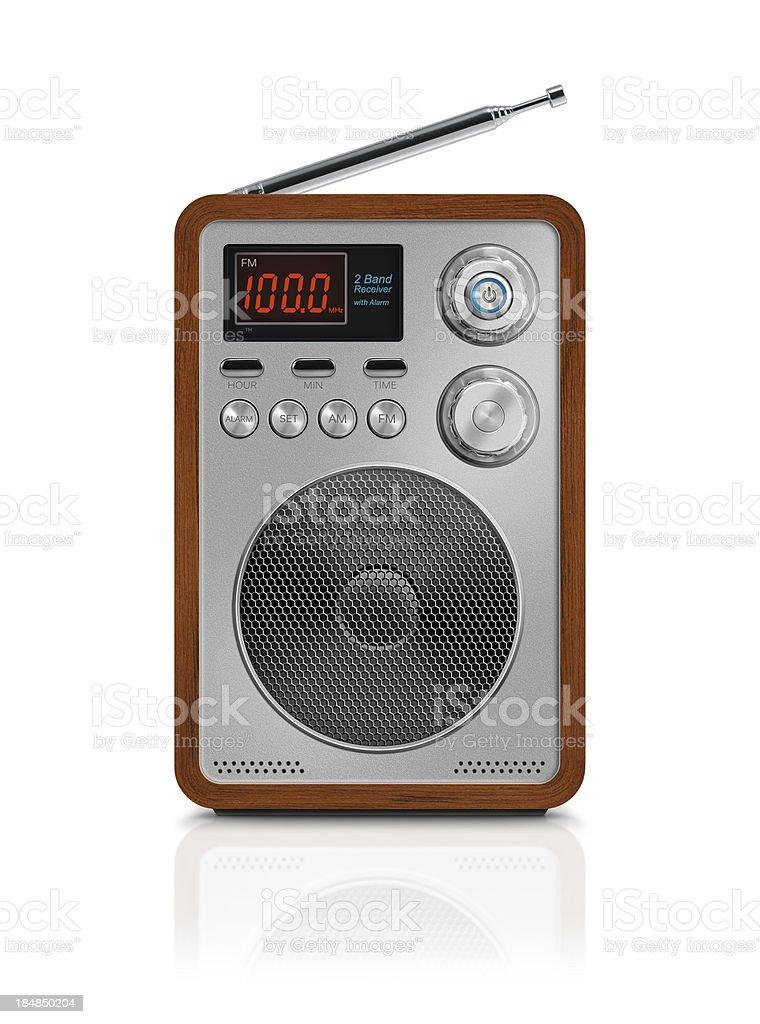 Digital Portable Alarm Radio royalty-free stock photo
