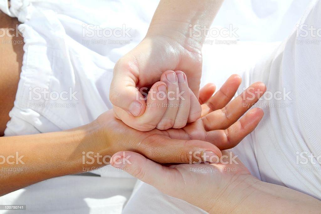 digital pressure hands reflexology massage tuina therapy royalty-free stock photo