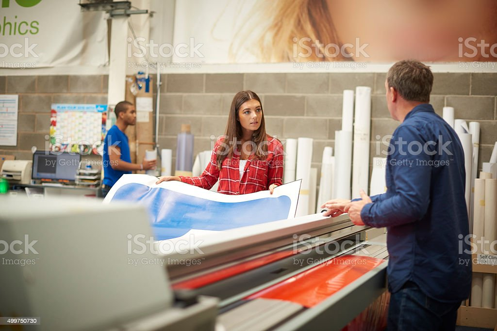 digital printing signage company stock photo