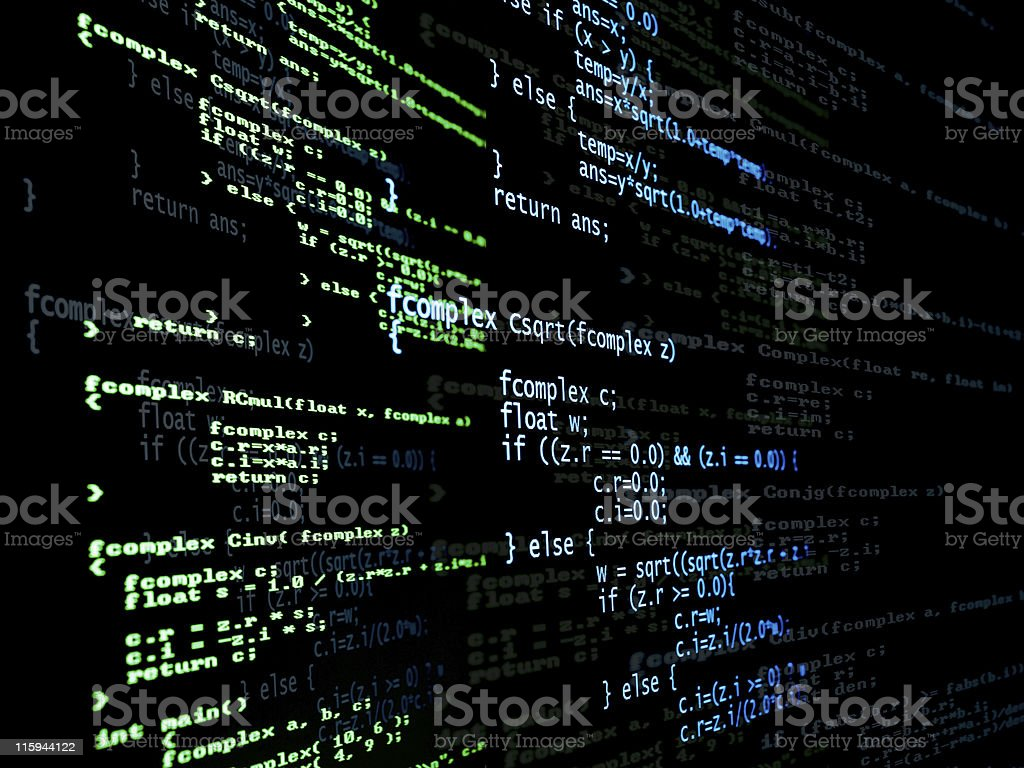 Digital program code royalty-free stock photo
