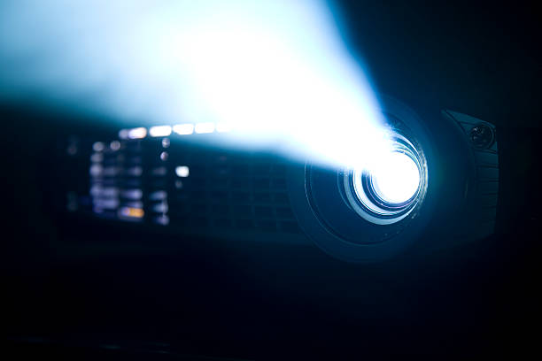 digital projector side view - projection equipment stock pictures, royalty-free photos & images