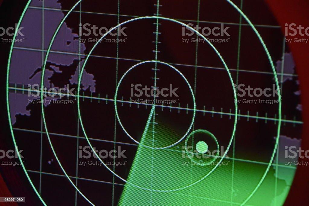 Digital radar stock photo