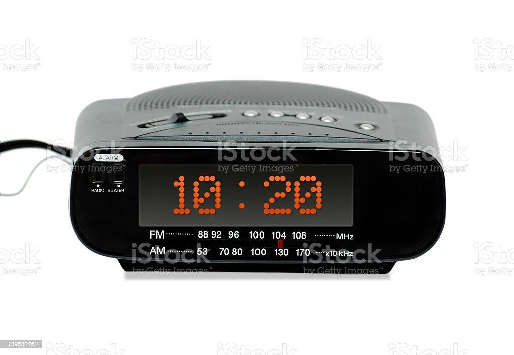 Digital radio alarm clock stock photo