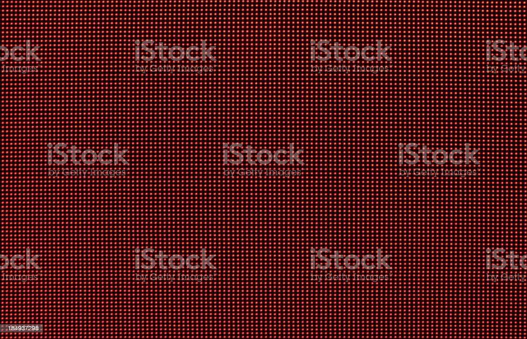 Digital red LED screen background stock photo