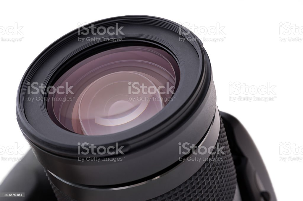 Digital reflex camera as an isolated object stock photo