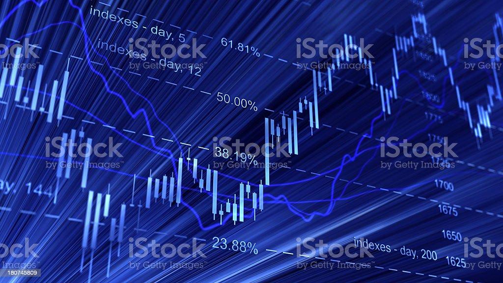 Digital representation of candlestick chart stock photo
