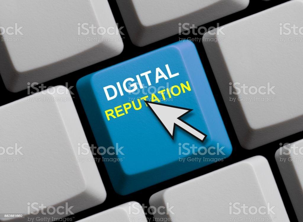 Digital Reputation online stock photo