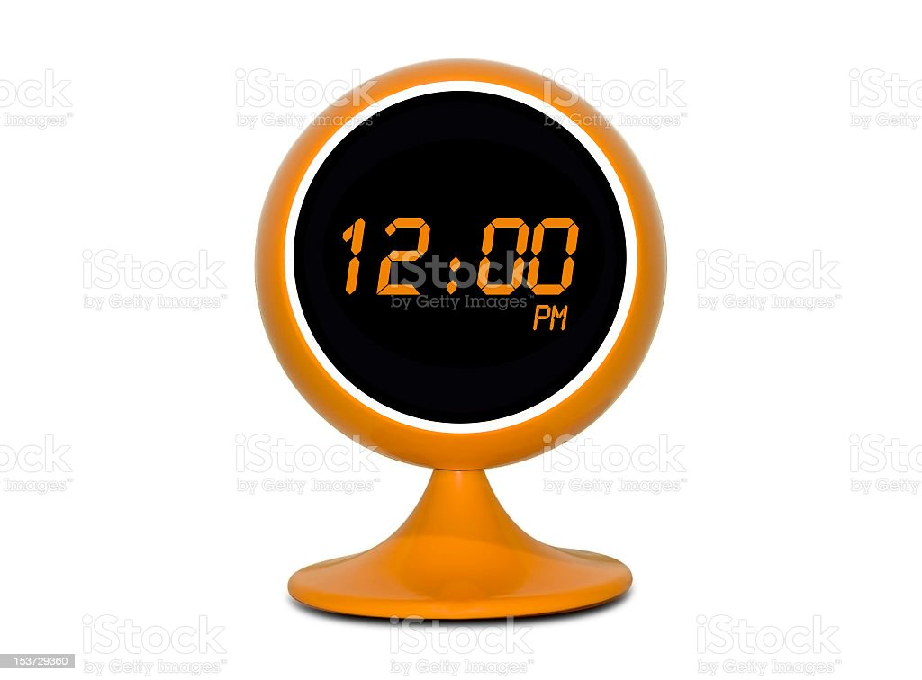 Digital Retro Clock royalty-free stock photo
