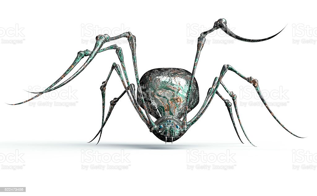 digital safety concept electronic computer bug isolated stock photo