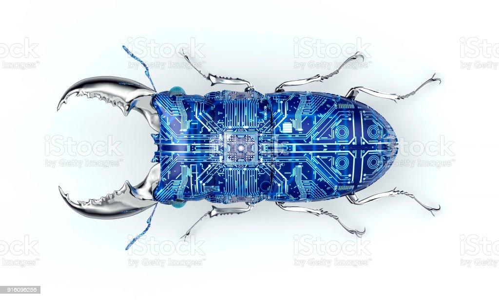 concept de sécurité numérique, électronique bug informatique isolé - Photo