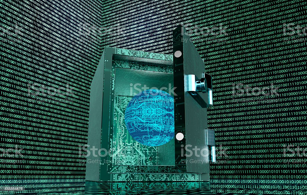 digital safety concept safe in electronic environment stock photo
