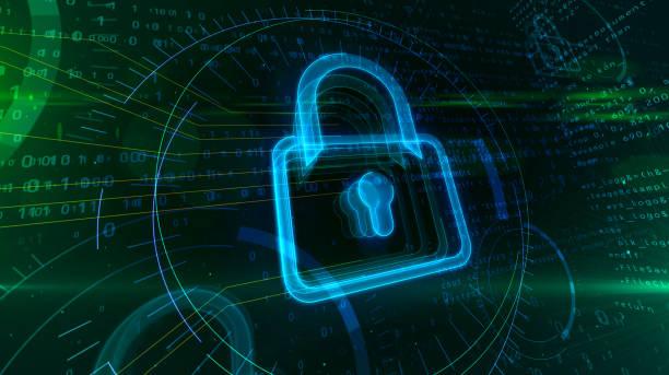 seguridad digital con candado - robo de identidad fotografías e imágenes de stock