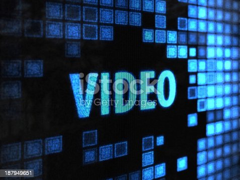 istock A digital screen displaying the word VIDEO  187949651