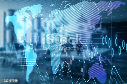 1177116437 istock photo Digital screen with business charts and stock data 1220197759