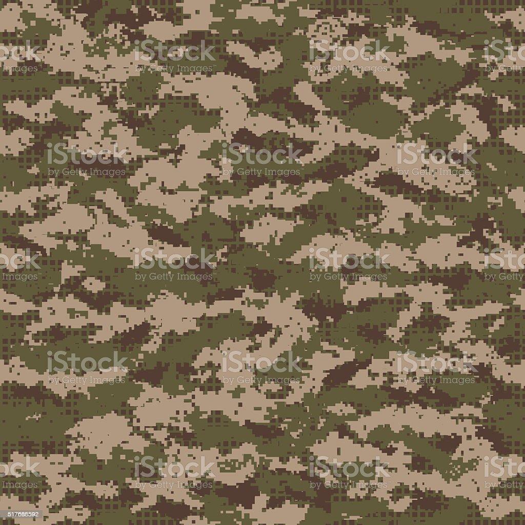 Digital seamless camouflage pattern. stock photo
