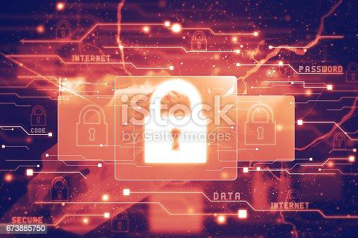 istock Digital security concept 673885750