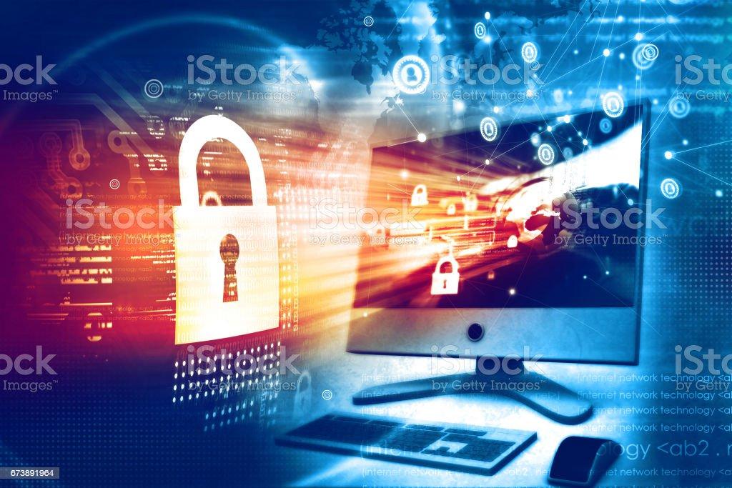 Digital security concept foto de stock royalty-free