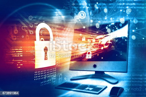 istock Digital security concept 673891964