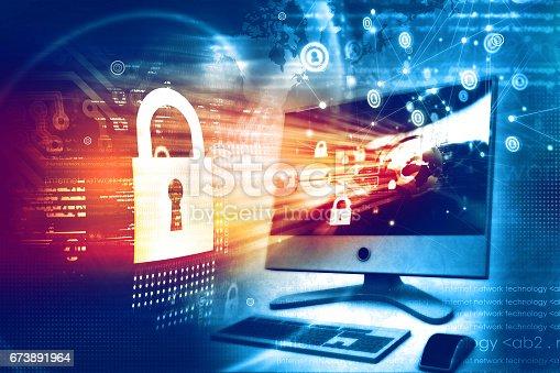894954832 istock photo Digital security concept 673891964