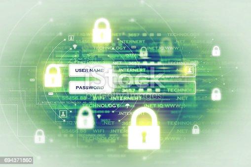 istock Digital security concept 694371860