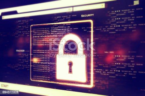 istock Digital security concept 694372028