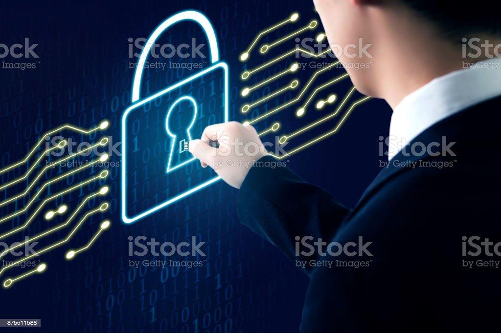 Konzept der digitalen Sicherheit  – Foto
