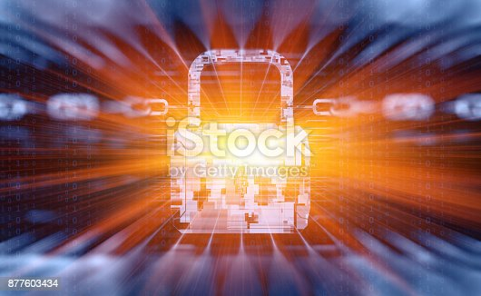 873055760 istock photo Digital security concept 877603434