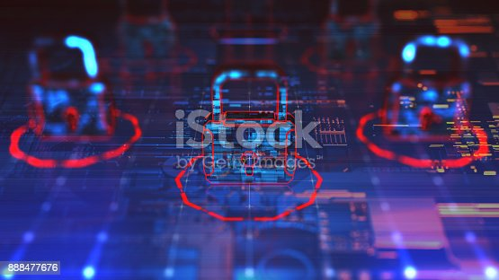 873055760 istock photo Digital security concept 888477676