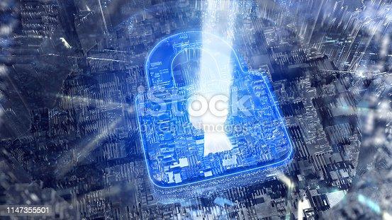 istock Digital security. Firewall metaphore 1147355501