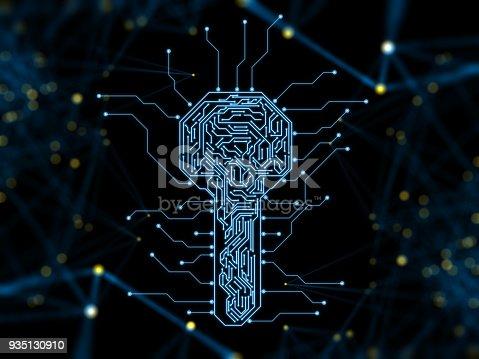 istock Digital security key concept 935130910