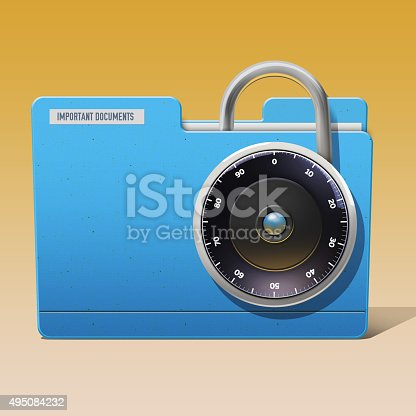 istock Digital security of a important documents 495084232