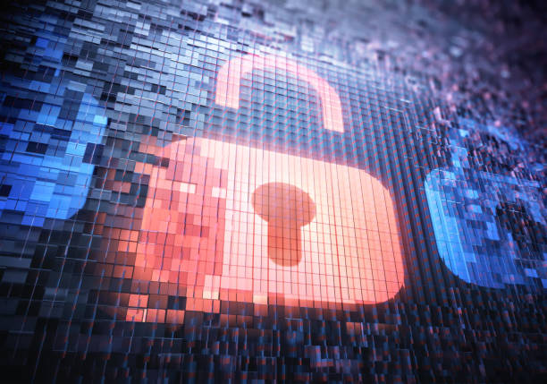 Digitale Sicherheit Vorhängeschloss Hacker Zugang – Foto