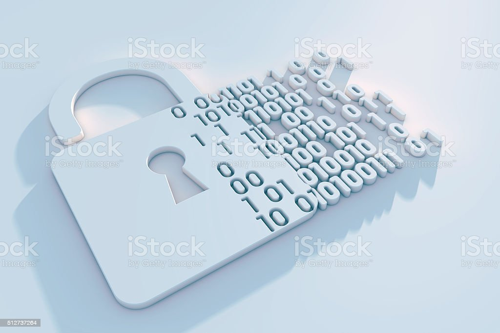 Digital security stock photo