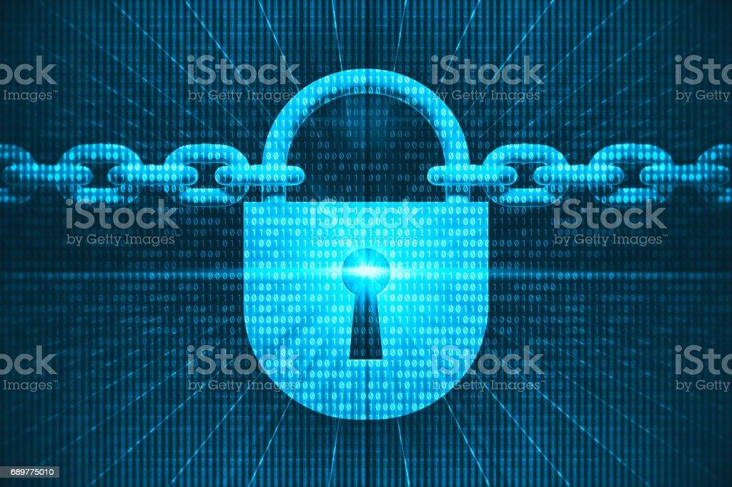 Digitale Sicherheit Lizenzfreies stock-foto