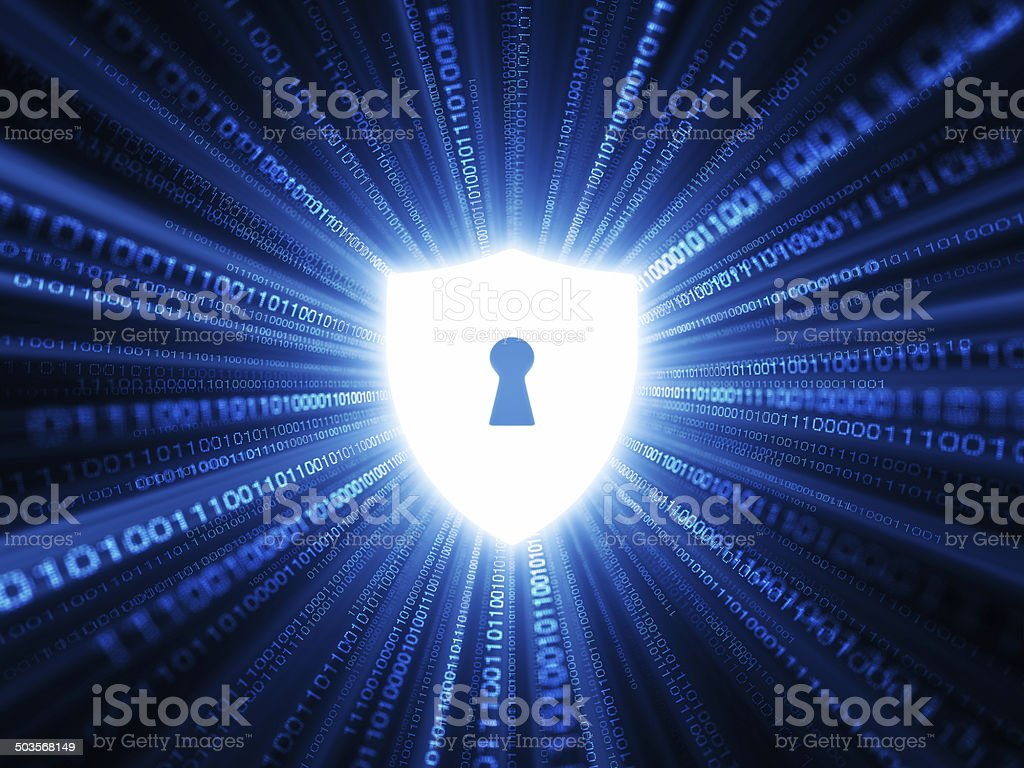 Digital Shield royalty-free stock photo