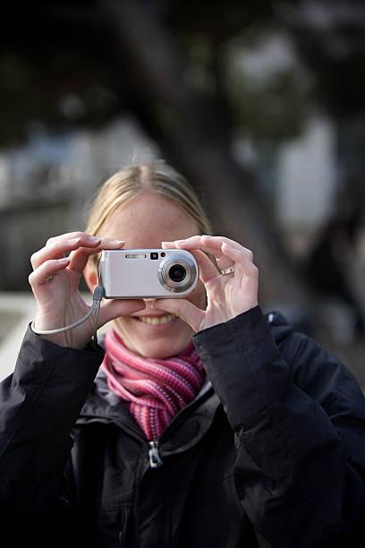 digital shooter stock photo
