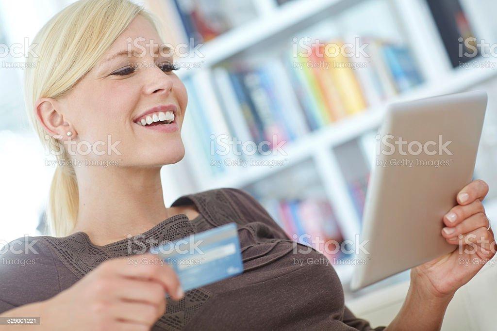 Digital shopaholic stock photo
