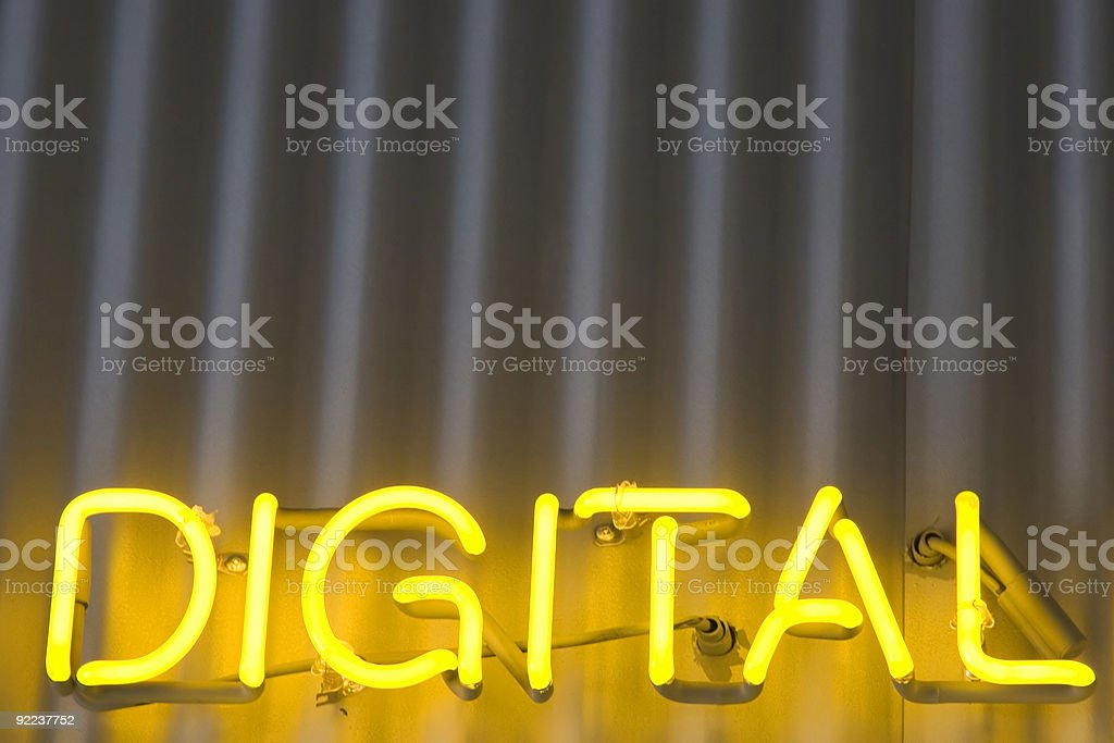 Digital Sign royalty-free stock photo